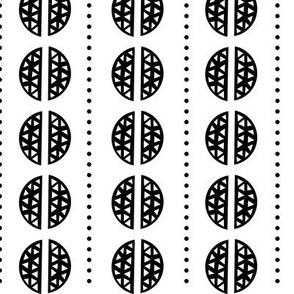 Geometric Pattern 2 - Black and White