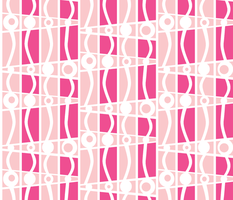 striped mod cotton candy castle fabric by glimmericks on Spoonflower - custom fabric
