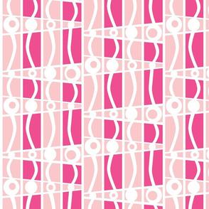 striped mod cotton candy castle