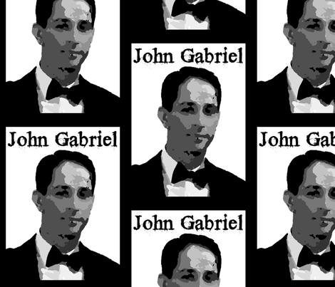 A Henri Yoki John Gabriel Tribute Design fabric by henriyoki on Spoonflower - custom fabric