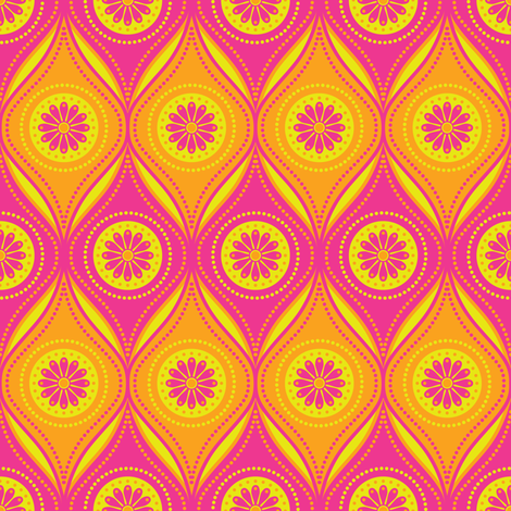 Mod Daisies fabric by robyriker on Spoonflower - custom fabric
