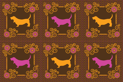 Samba Basset Pillows fabric by robyriker on Spoonflower - custom fabric