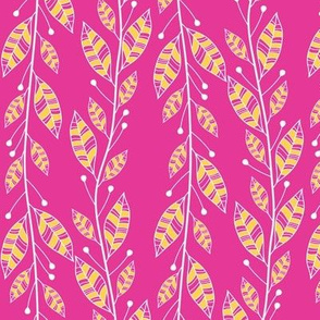 Bouquet Leaves (Pink)