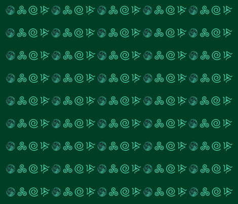 Teen Wolf Green on Green fabric by dame_c on Spoonflower - custom fabric