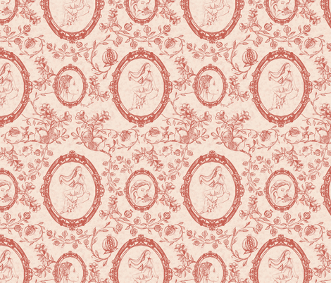 Toile_de_Jouy_(Persephone) fabric by kirpa on Spoonflower - custom fabric