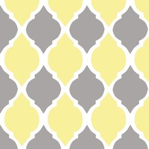 gray and yellow morocco tile