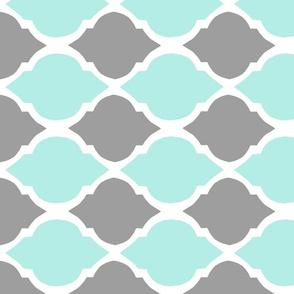 horizontal gray and aqua