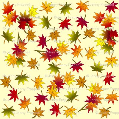 Autumn Leaves in Straw © indigodaze 2013