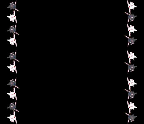 Mokona Black fabric by dame_c on Spoonflower - custom fabric