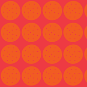 circles in pink and orange