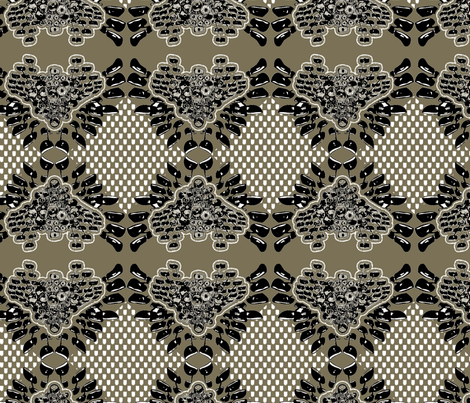 extended mod beige fabric by susiprint on Spoonflower - custom fabric