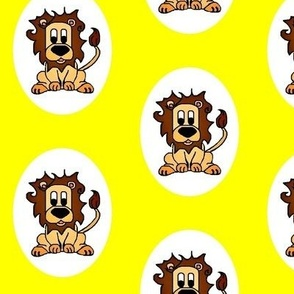 Lenny Lion on yellow