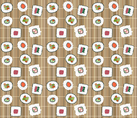 sushi fabric by loopy_canadian on Spoonflower - custom fabric