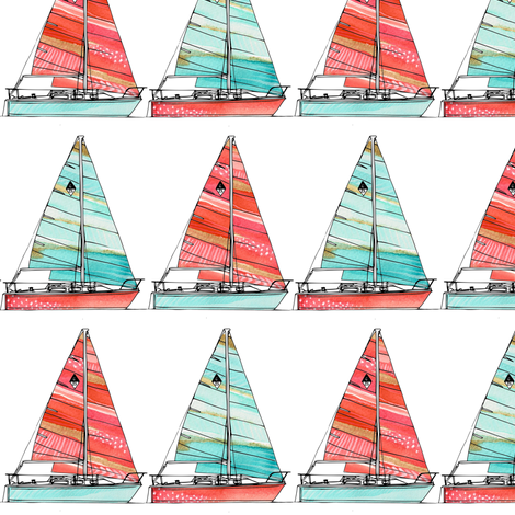 Watercolor Catalina fabric by emilysanford on Spoonflower - custom fabric