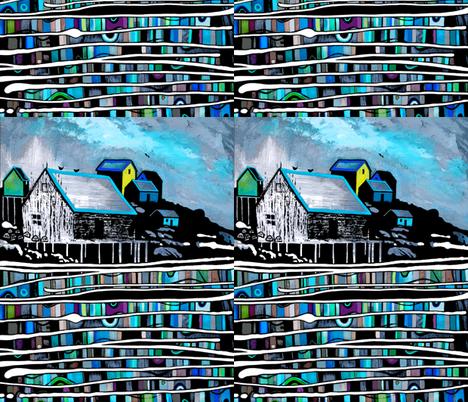 LOBSTER_HUT1_ARTWORK_8x10 fabric by los_ems on Spoonflower - custom fabric
