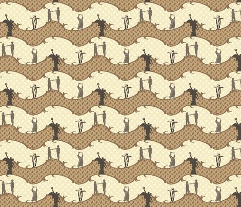 Legendary Figures - neutral fabric by cherryandcinnamon on Spoonflower - custom fabric