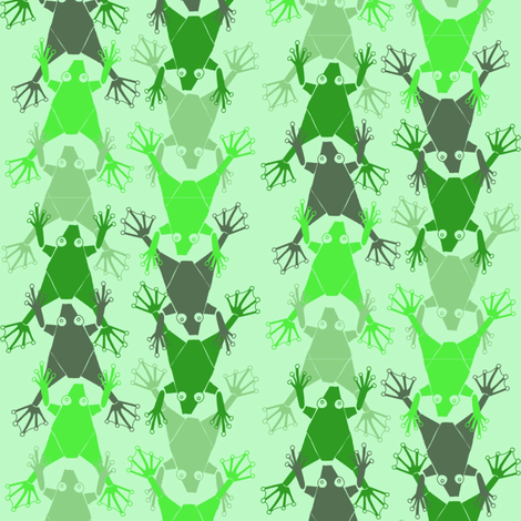 frogs_on_a_row fabric by susiprint on Spoonflower - custom fabric