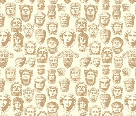 Faces of Derry -Stone Large fabric by cherryandcinnamon on Spoonflower - custom fabric