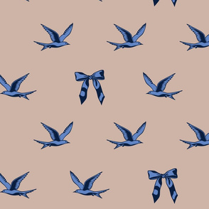 The Birds And The Bows On Tan
