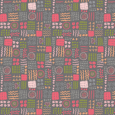 patchwork_play_gray fabric by stacyiesthsu on Spoonflower - custom fabric