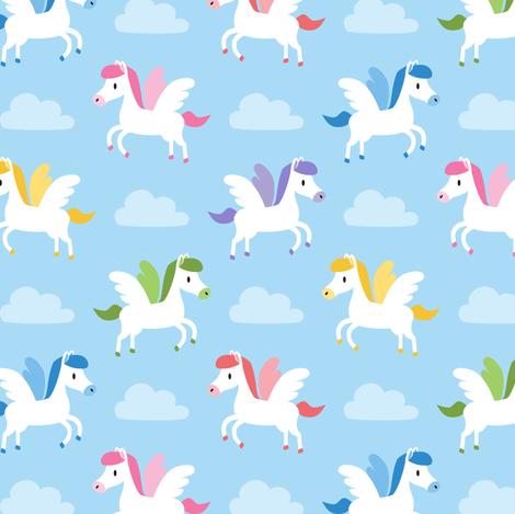 Cute Pegasus fabric by petitspixels on Spoonflower - custom fabric