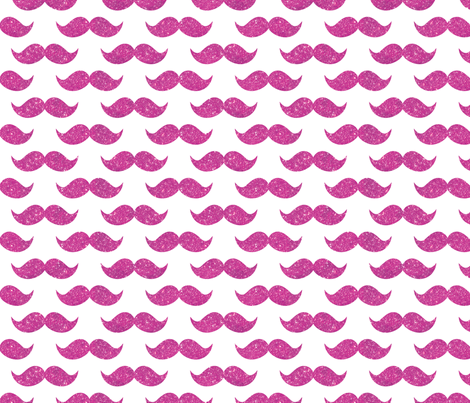 Sparkle Staches, Hot pink fabric by cynthiafrenette on Spoonflower - custom fabric