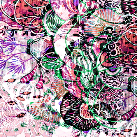 Wonder Down Under pink fabric by whimzwhirled on Spoonflower - custom fabric