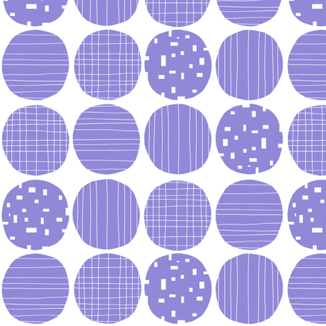 Jacaranda circles (white background) fabric by greennote on Spoonflower - custom fabric