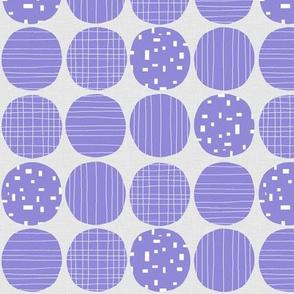 Jacaranda Circles (grey texture)