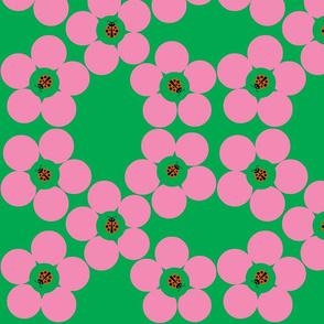 Ladybug Flower Power Green