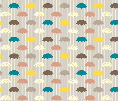 umbrellas fabric by mrshervi on Spoonflower - custom fabric