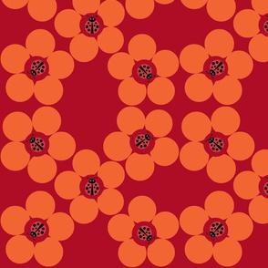 Ladybug Flower Power Rust