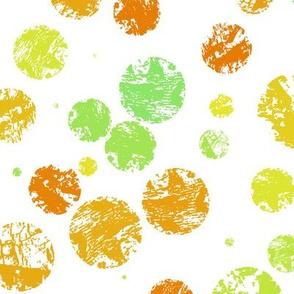 Textured citrus polka dots