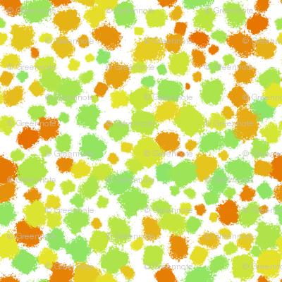 Citrus paint splatter