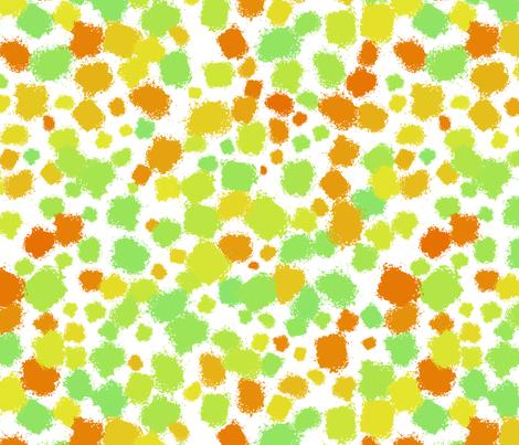 Citrus paint splatter fabric by greennote on Spoonflower - custom fabric