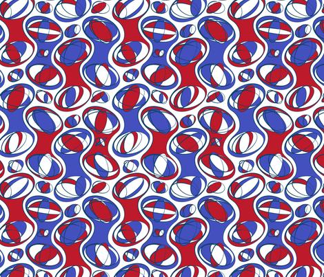 Retro-Geo Red White Blue fabric by jmckinniss on Spoonflower - custom fabric