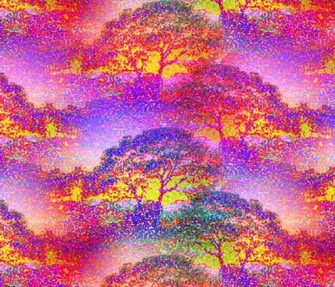 Rrrpointillist_sunset_tree_jungle_colors_pink_sunrise_by_paysmage_shop_preview