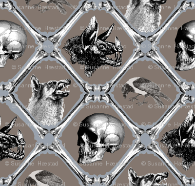 crows,bats,wolfes and bones