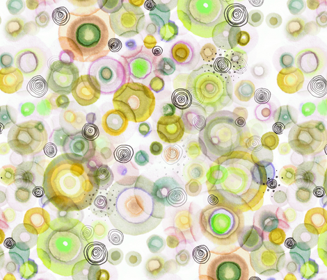 gold orbits1 fabric by nerdlypainter on Spoonflower - custom fabric