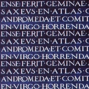 Latin Script Engraving