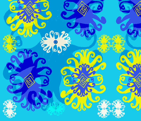 Medusa's Evil Eye fabric by slumbermonkey on Spoonflower - custom fabric