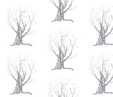 little gene tree fabric by nerdlypainter on Spoonflower - custom fabric