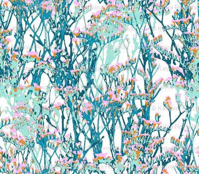 skopelos flowers snow