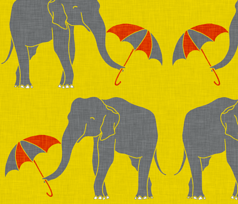elephant_and_umbrella_POP fabric by holli_zollinger on Spoonflower - custom fabric