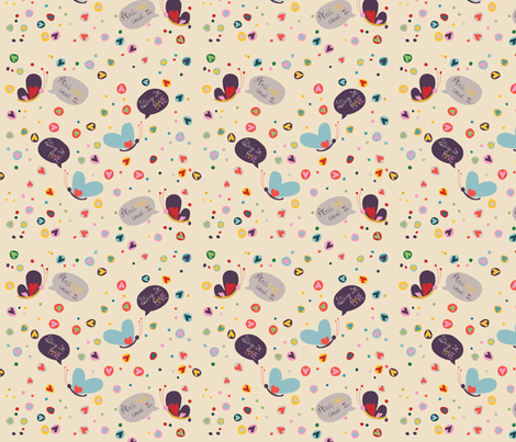 Stay_in_love_and_talk_about_it fabric by pragya_k on Spoonflower - custom fabric