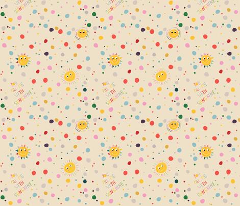 you_fill_me_with_sunshine fabric by pragya_k on Spoonflower - custom fabric