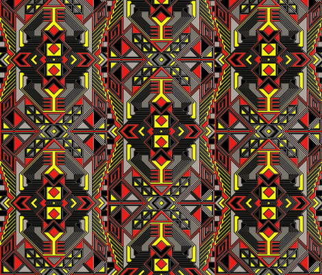 Proceed With Caution fabric by whimzwhirled on Spoonflower - custom fabric