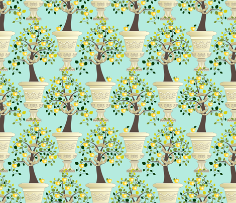 Guarding Golden Apples fabric by inscribed_here on Spoonflower - custom fabric