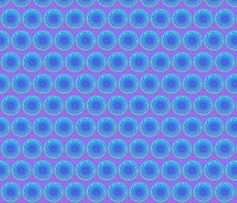 aqua orbs horizontal fabric by dsa_designs on Spoonflower - custom fabric