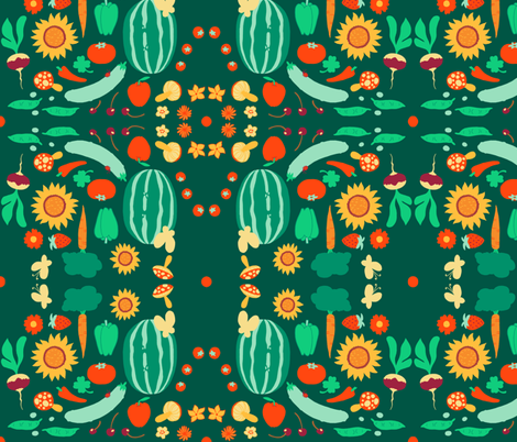 Farmer's Bounty fabric by aimee on Spoonflower - custom fabric